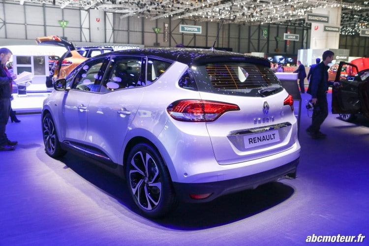 Renault Scenic IV arriere Geneve 2016-4