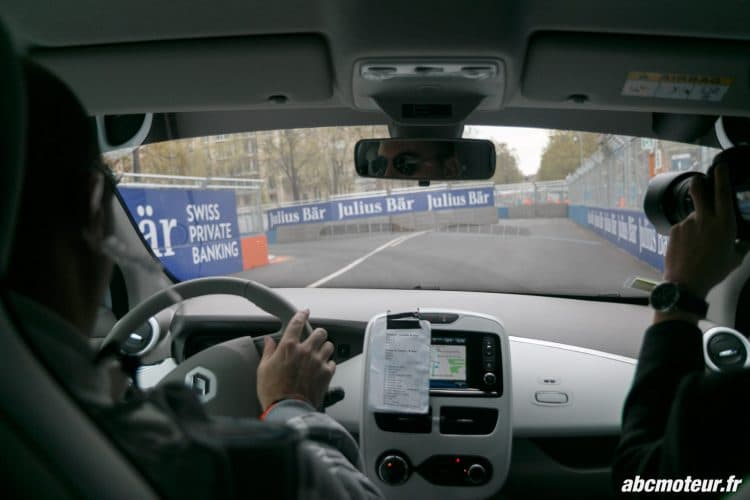 hot lap Renault Zoe Formule E Paris 2016