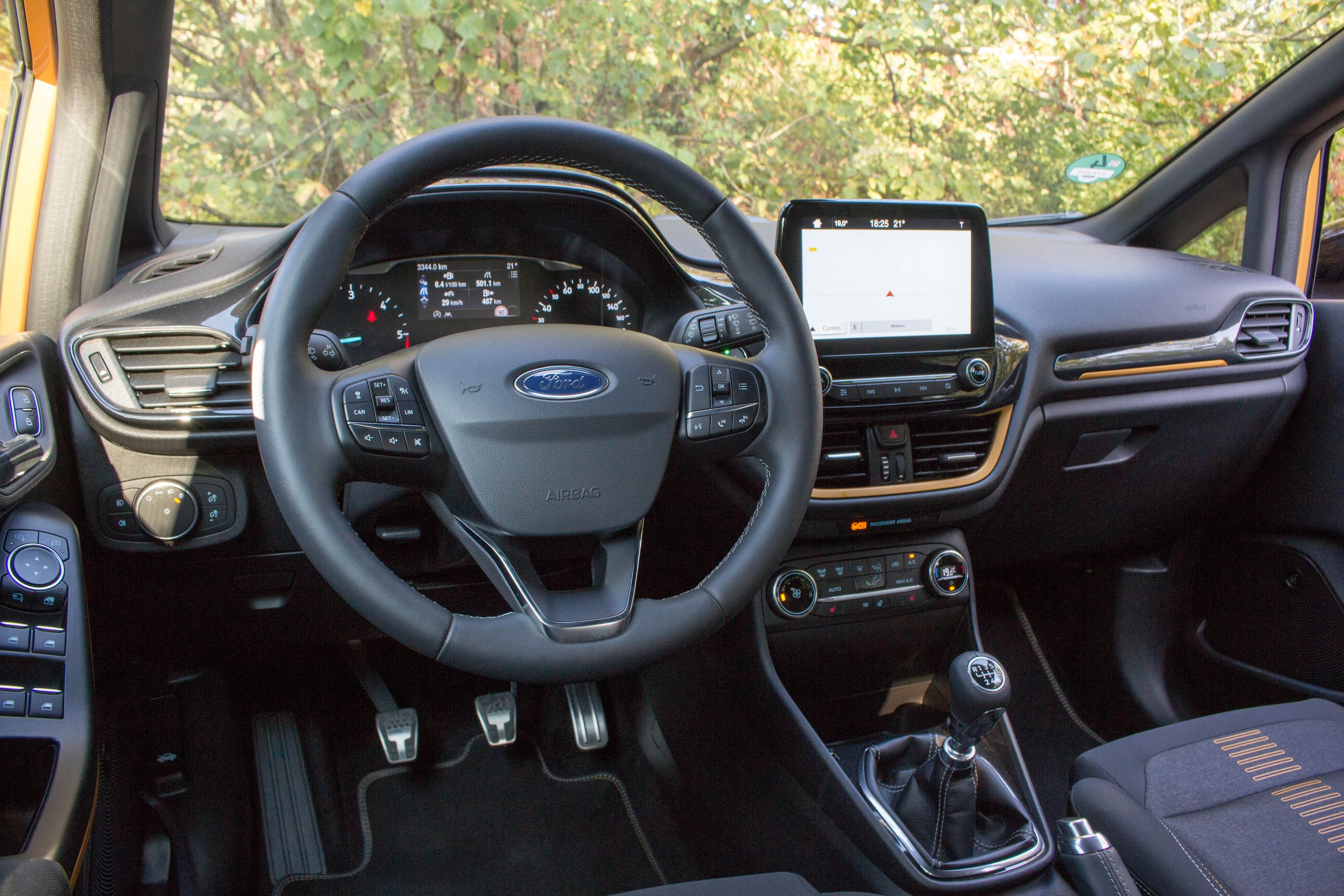 Ford Fiesta Active habitacle