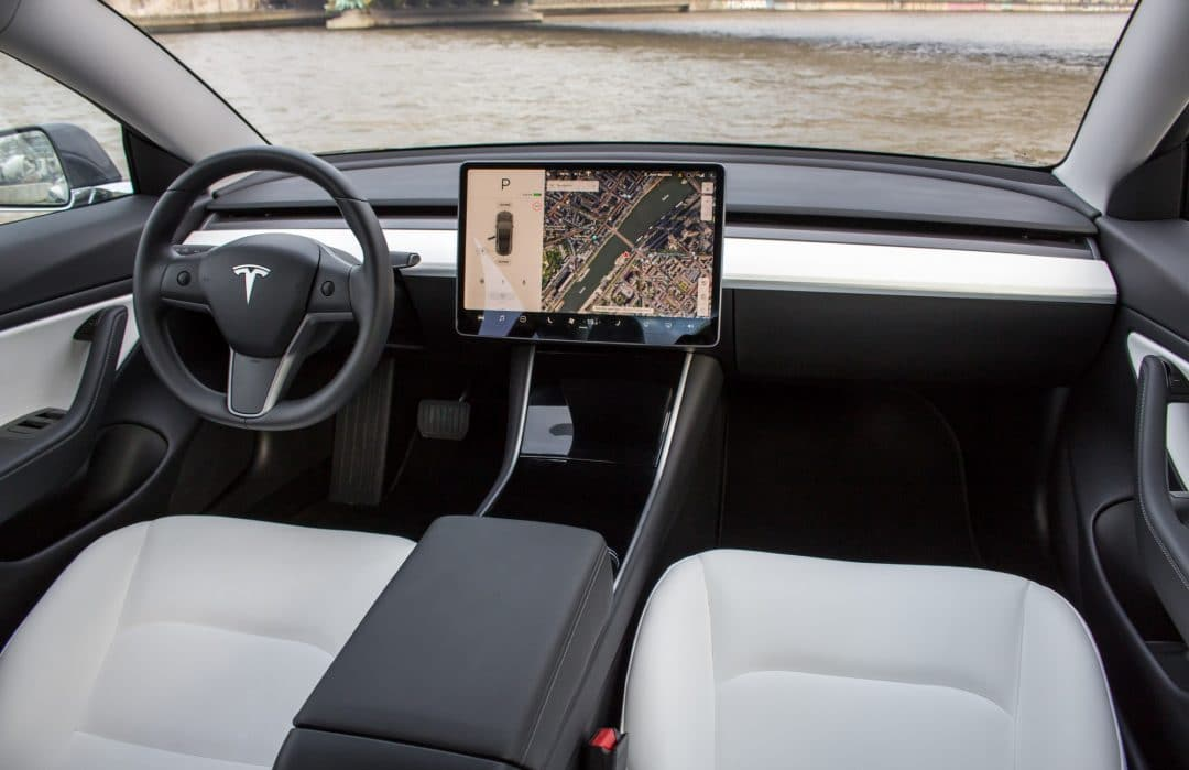 Tesla Model 3 habitacle